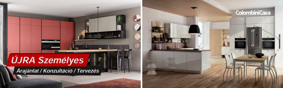 Colombini modern olasz konyhabútorok, prémium beépíthető konyhagépek, Bono Design