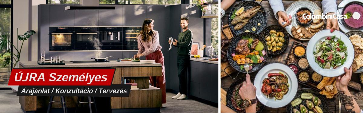 Colombini klasszikus olasz konyhabútorok, prémium beépíthető konyhagépek, Bono Design