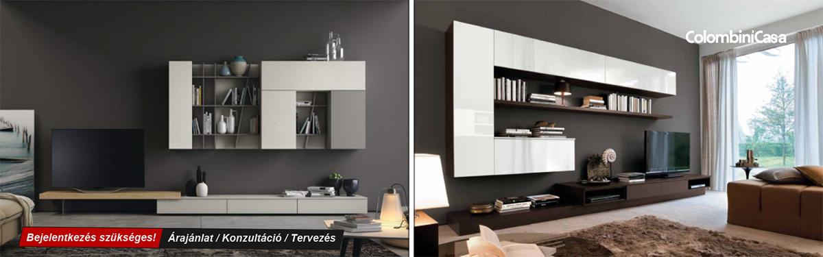 Colombini modern és klasszikus olasz nappali bútorok, TV szekrények, könyvespolcok, Bono Design