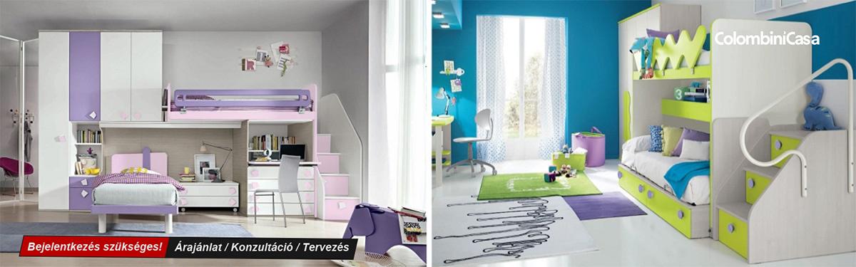 Colombini modern és klasszikus gyerekbútorok, emeletes ágyak, ifjúsági bútorok, Bono Design